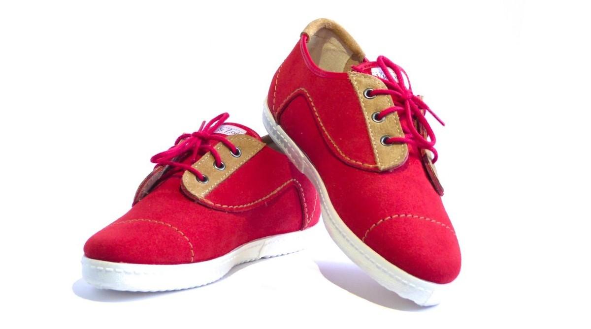 Richelieu cuir Rouge
