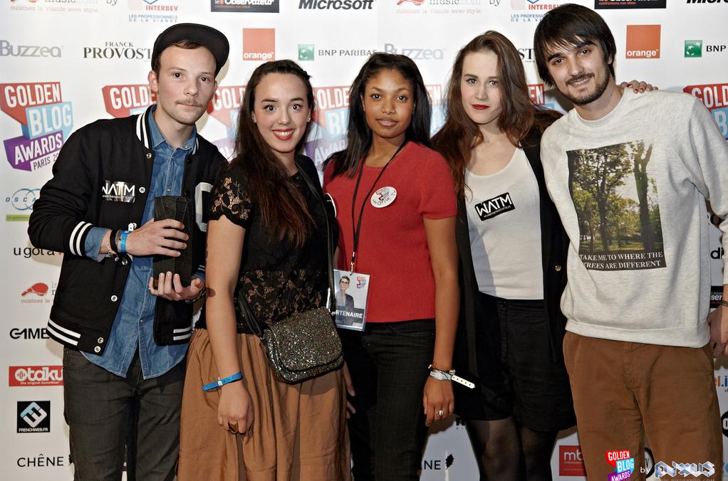 L'équipe de WATM - GOLDEN BLOG AWARDS Musique, GBA Paris, 2011